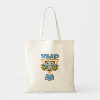 Bolsa Tote Leia a coruja azul do ouro dos livros