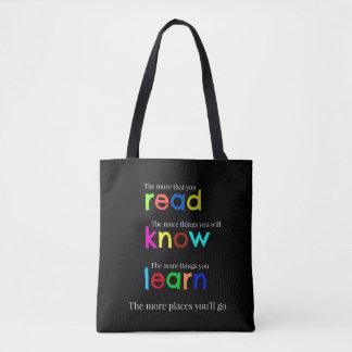 Bolsa Tote Leia e aprenda