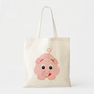 Bolsa Tote Leitão cor-de-rosa pequeno bonito
