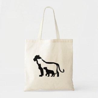 Bolsa Tote Leões preto e branco