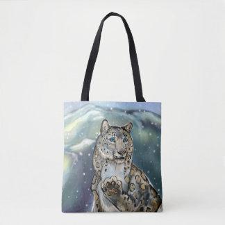 Bolsa Tote Leopardo de neve