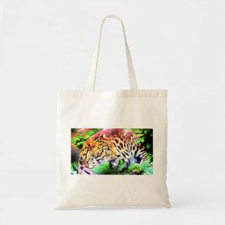 Bolsa Tote Leopardo que descansa na selva