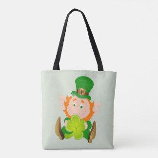 Bolsa Tote Leprechaun do dia de St Patrick feliz