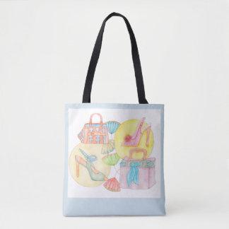 Bolsa Tote Let´s vai comprar - sacola na luz - o azul