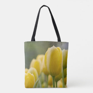 Bolsa Tote Levante-se a tulipa amarela