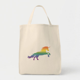 Bolsa Tote Lgbt do unicórnio do arco-íris