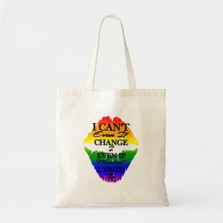 Bolsa Tote LGBTQIA que eu não posso mudar mesmo se eu quis a