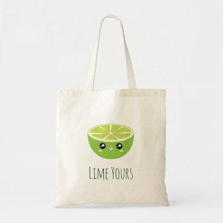 Bolsa Tote Limão bonito engraçado de Kawaii seu eu sou seu