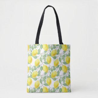 Bolsa Tote Limão e sacola amarelos das videiras do verde