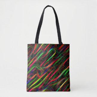 Bolsa Tote Linhas curvadas coloridos de néon
