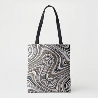 Bolsa Tote Linhas Curvy multicoloridos à moda modernas