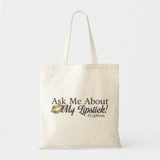 Bolsa Tote #LipBoss - pergunte-me sobre meu batom