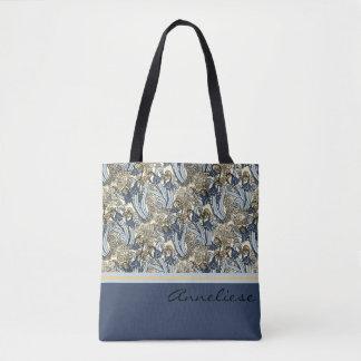 Bolsa Tote Lírio de Nouveau da arte da sacola do design do