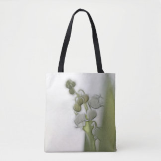 Bolsa Tote Lírio do esboço da flor do vale