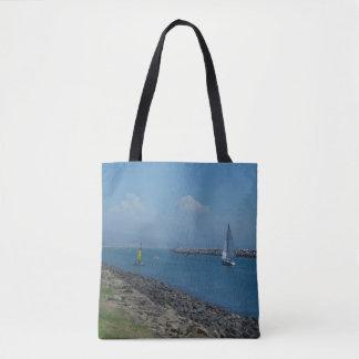 Bolsa Tote Liso navegando adiante a sacola