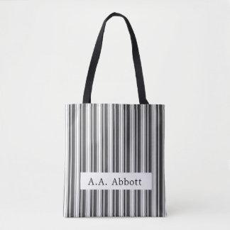 Bolsa Tote Listra branca preta de Abbott