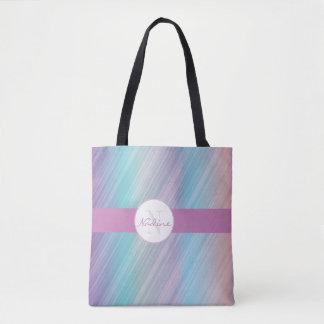 Bolsa Tote Listra colorida chique