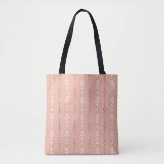 Bolsa Tote Listras da cor da carne do rosa salmon do estilo