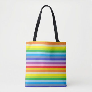 Bolsa Tote Listras mais largas de um arco-íris do espectro