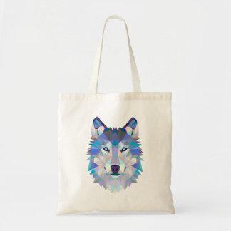 Bolsa Tote Lobo do polígono - lobo geométrico - lobo abstrato