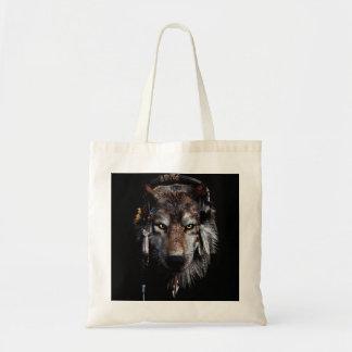 Bolsa Tote Lobo indiano - lobo cinzento