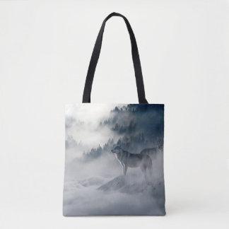 Bolsa Tote Lobos na sacola do inverno