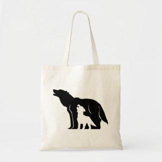 Bolsa Tote Lobos preto e branco