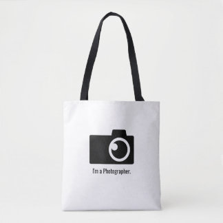 Bolsa Tote Logotipo da câmera do fotógrafo mínimo