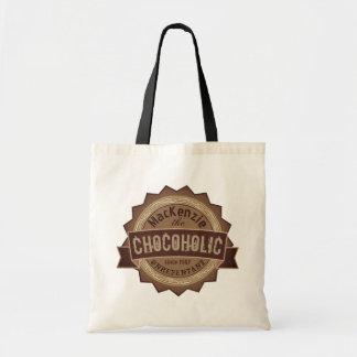 Bolsa Tote Logotipo de Brown do crachá do Grunge do amante do
