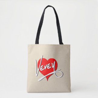 Bolsa Tote Logotipo do coração de Vevey por Baronsky