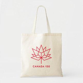 Bolsa Tote Logotipo do oficial de Canadá 150 - esboço