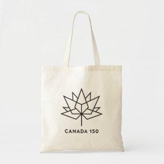 Bolsa Tote Logotipo do oficial de Canadá 150 - esboço preto