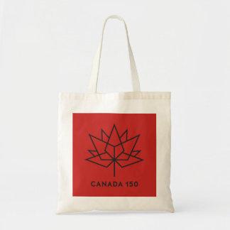 Bolsa Tote Logotipo do oficial de Canadá 150 - vermelho e