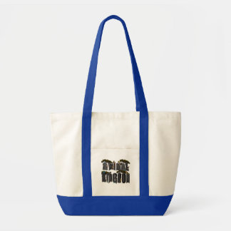 Bolsa Tote Logotipo do reino animal com animais,