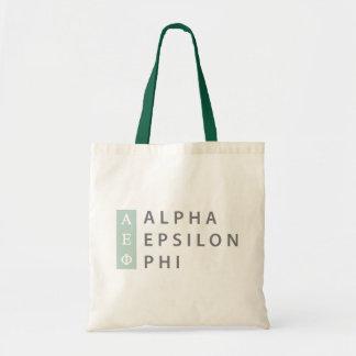 Bolsa Tote Logotipo empilhado | alfa da phi do épsilon