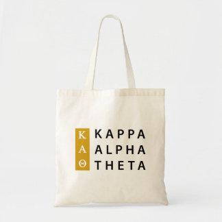 Bolsa Tote Logotipo empilhado | alfa da teta do Kappa