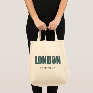Bolsa Tote Londres, Inglaterra Reino Unido (tipografia)