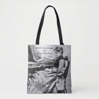 Bolsa Tote Louisa pode Alcott afeiçoado da fotografia dos