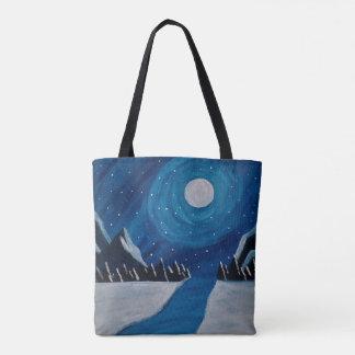 Bolsa Tote Lua azul