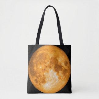Bolsa Tote Lua cheia alaranjada