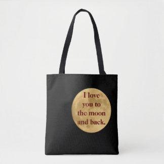Bolsa Tote Lua e parte traseira - sacola