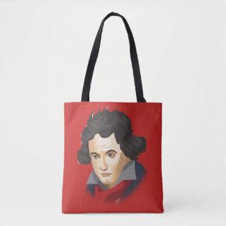 Bolsa Tote Ludwig Van Beethoven no estilo cartoon