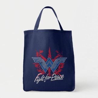 Bolsa Tote Luta da mulher maravilha para o símbolo de paz