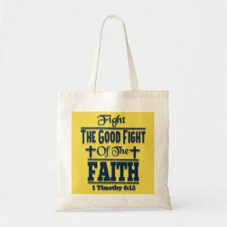 Bolsa Tote Lute a boa luta da sacola da fé