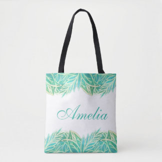 Bolsa Tote Luxúria tropical personalizada da sacola das