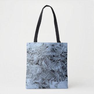 Bolsa Tote Luz gelado da floresta - design azul do abstrato