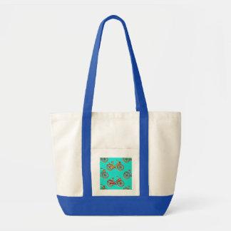 Bolsa Tote Luz - sacola azul da praia da bicicleta