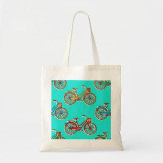 Bolsa Tote Luz - sacola azul do orçamento da bicicleta