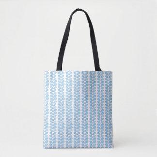 Bolsa Tote Luz simples - teste padrão azul do símbolo da