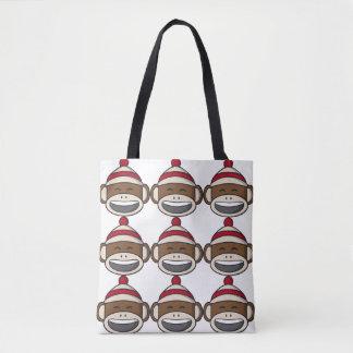 Bolsa Tote Macaco grande Emoji da peúga do sorriso